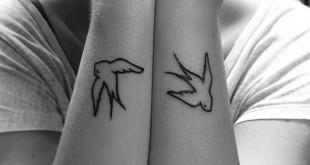 Schwalben Tattoo am Unterarm