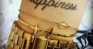 Happiness Tattoo am Handgelenk