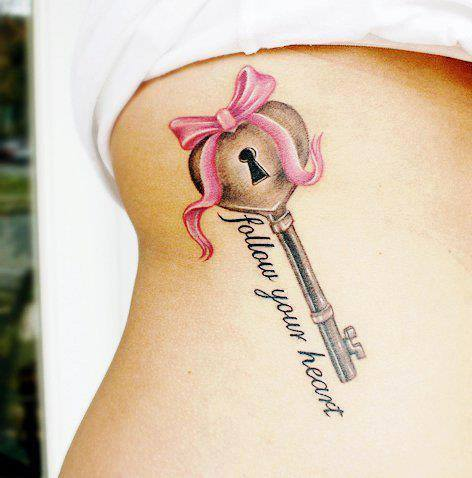 Tattoo Spruch Follow your heart
