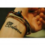 Believe Tattoo am Handgelenk