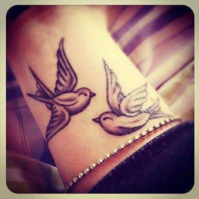 Vogel Tattoo Am Handgelenk Von Tattoo Magazincom